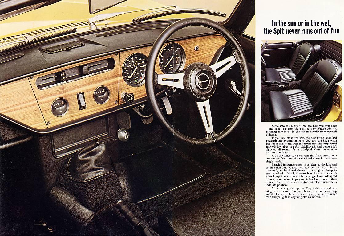 Triumph Spitfire 1500 1973 Mkiv Brochure Uk