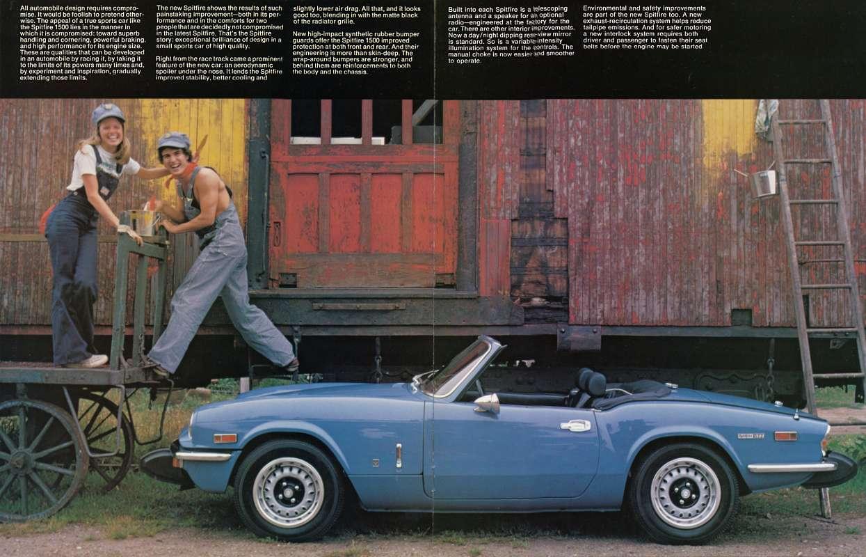 1974 Triumph Spitfire 1500 Brochure Us