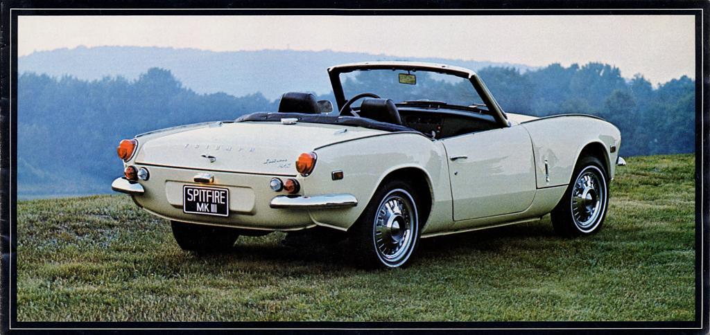 1969 triumph spitfire mk3 brochure (us/canada)
